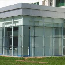 Glass Curtain Wall Entry